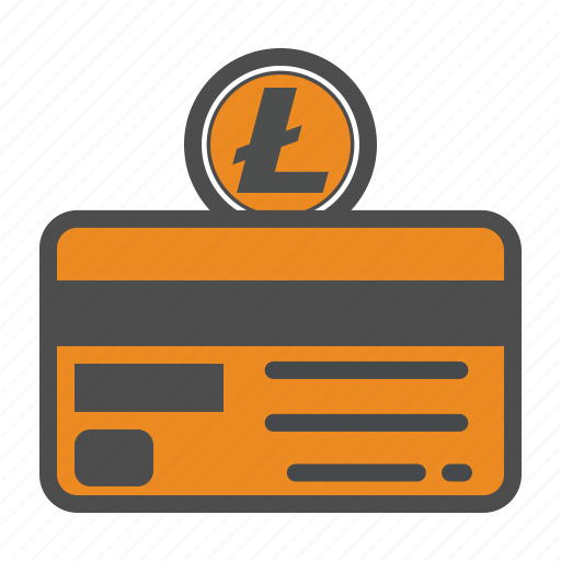 card, credit, litecoin, money, secure icon