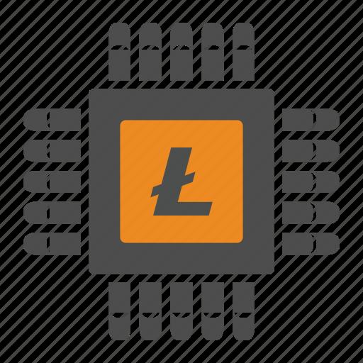 blockchain, cryptocurrency, litecoin, mining icon