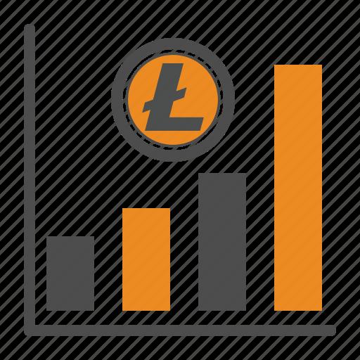 graph, litecoin, price icon