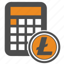 convert, litecoin, money, price icon