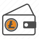 cash, litecoin, secure, wallet icon