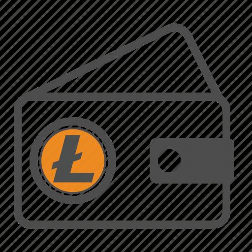 cash, litecoin, secure, wallet icon