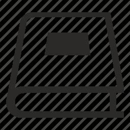 book, cover, ebook, tutorial icon