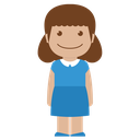 avatar, blue, child, female, girl, kid, person icon