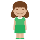 avatar, child, female, girl, green, kid, person icon