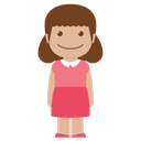 pink, person, avatar, female, child, girl, kid