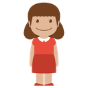 avatar, child, female, girl, kid, person, red icon