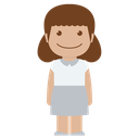 avatar, child, female, girl, kid, person, white icon