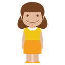 avatar, child, female, girl, kid, person, yellow icon