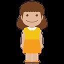 yellow, person, avatar, female, child, girl, kid