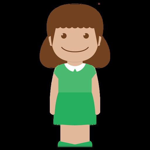 avatar, child, female, girl, green, kid, person icon