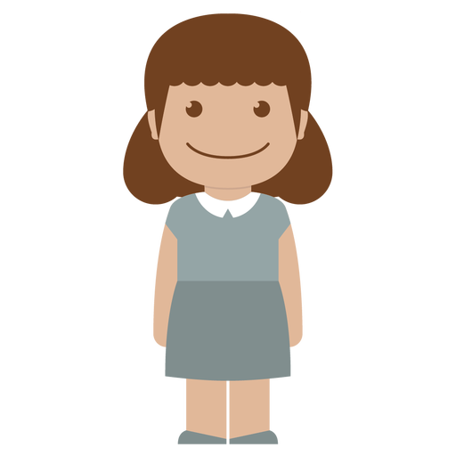 avatar, child, female, girl, grey, kid, person icon
