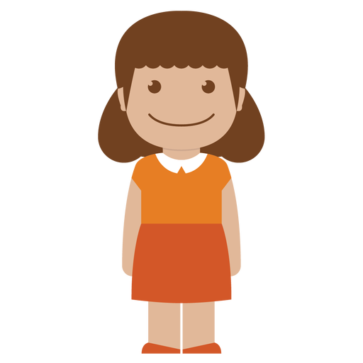 avatar, child, female, girl, kid, orange, person icon