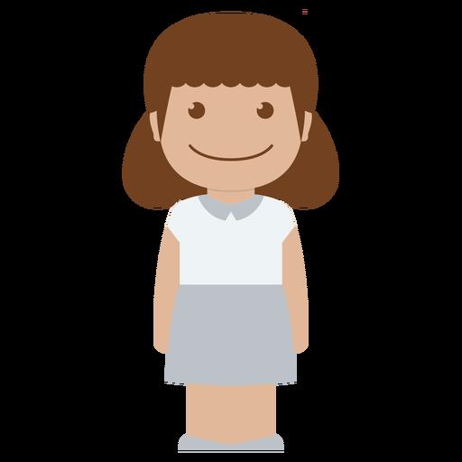 avatar, child, female, girl, kid, person, white icon