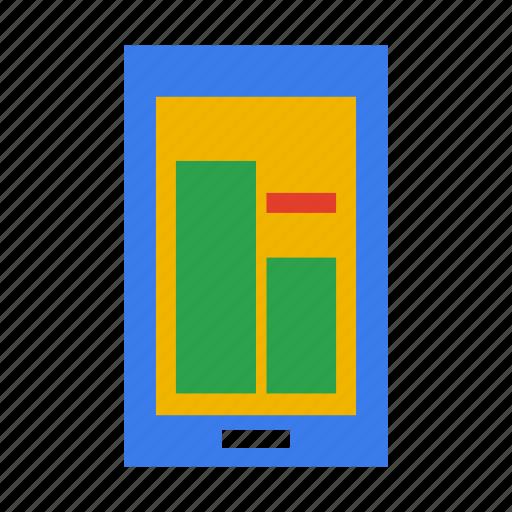 chart, phone, quality, score, statistics, tactics icon