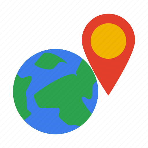 earth, gps, location, map, mark, point icon