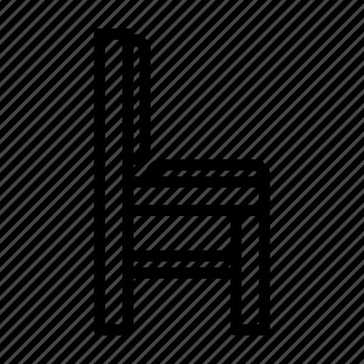 chair, furniture, interior, wood icon
