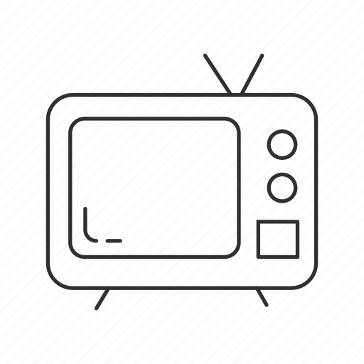 appliance, entertainment, household, monitor, screen, television, tv icon