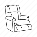 chair, furniture, interior, lazy boy, lazy boy chair, relax, seat icon