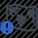 location, error, warning, map, alert