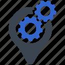 location, pin, setting, option, configuration