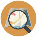 find, location, map, navigation, pin, search, zoom icon