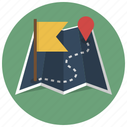 destination, finish, location, map, navigation, route, start icon
