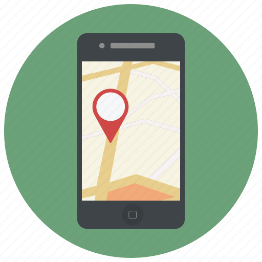 iphone, location, map, marker, navigation, phone, pin icon
