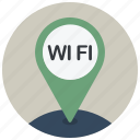 location, map, navigation, pin, wi fi, wifi, wireless icon