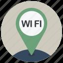 location, map, navigation, pin, wi fi, wifi, wireless icon