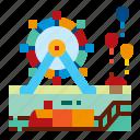 amusement, building, location, park icon