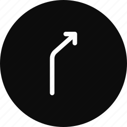 arrow, direction, location, right, turn, way icon