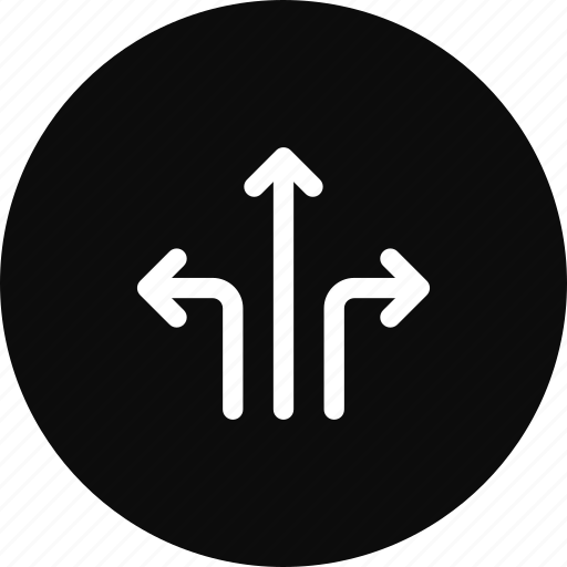 Arrow, direction, location, road, sign, turn, way icon - Download on Iconfinder