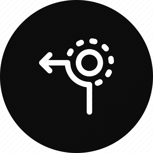 Circle, direction, left, path, road, sign, way icon - Download on Iconfinder