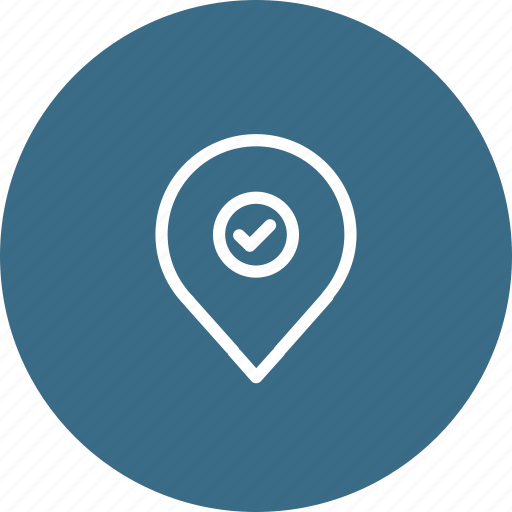 Location, map, navigation, pin, right, true, verify icon - Download on Iconfinder