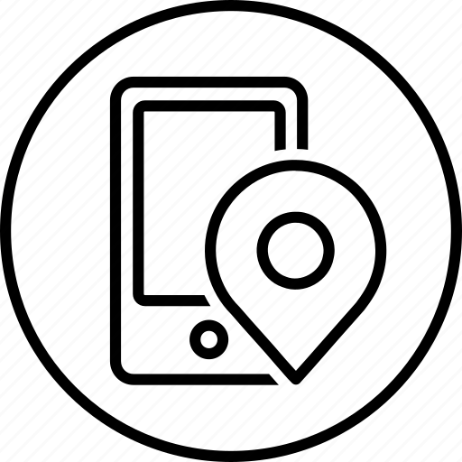 gps, internet, mobile, online, phone, pin, web icon