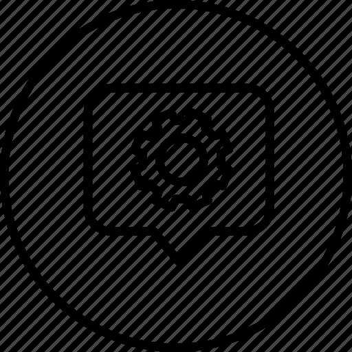 location, marker, pin, setting, settings, tag, thinking icon