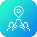 gps, group, location, navigation, people, person, pin icon