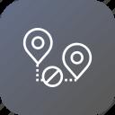 map, pin, location, way, denied, cancel, path icon