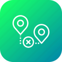 false, location, map, path, pin, way, wrong icon