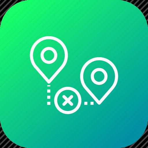false, location, map, path, pin, way, wrong icon
