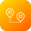 destination, location, map, path, pin, start, way icon