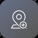 insert, pin, map, add, location, marker, navigation icon