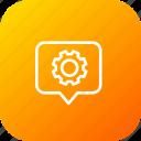 pin, settings, thinking, tag, location, marker, setting icon