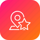 map, star, pin, favorite, place, location, navigation icon