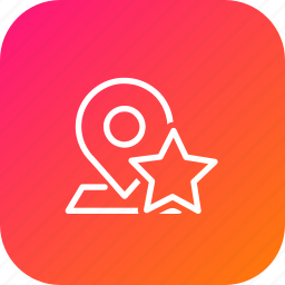 favorite, location, map, navigation, pin, place, star icon