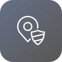 location, map, navigation, pin, place, security, shield