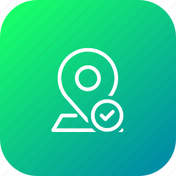 location, map, navigation, pin, right, true, verify icon