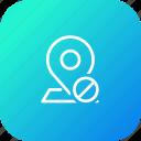 map, pin, location, denied, cancel, navigation, gps icon