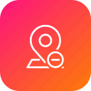 map, pin, point, remove, location, navigation, minus icon